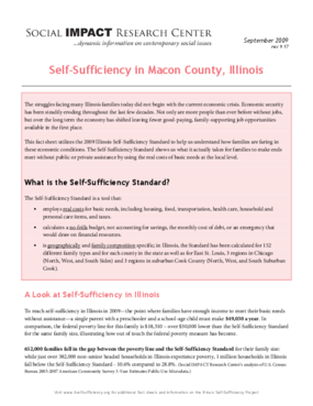 Self-Sufficiency in Macon County, Illinois