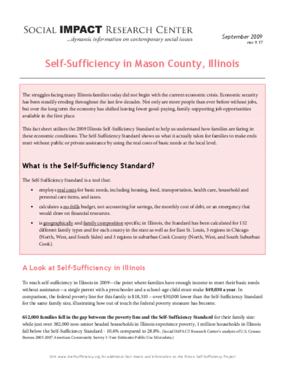 Self-Sufficiency in Mason County, Illinois