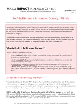 Self-Sufficiency in Massac County, Illinois