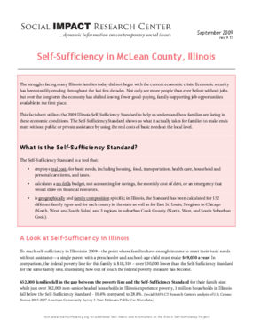 Self-Sufficiency in McLean County, Illinois