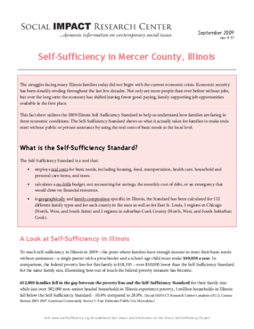 Self-Sufficiency in Mercer County, Illinois