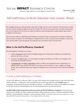 Self-Sufficiency in North Suburban Cook County, Illinois
