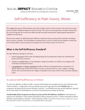 Self-Sufficiency in Piatt County, Illinois