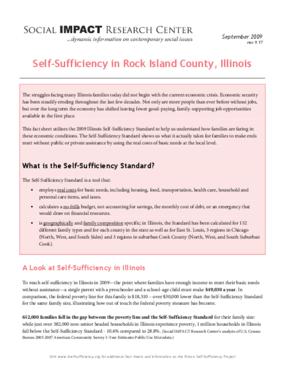 Self-Sufficiency in Rock Island County, Illinois