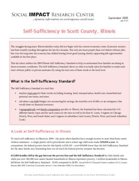 Self-Sufficiency in Scott County, Illinois