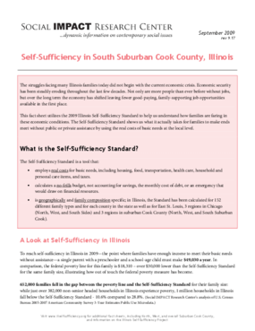 Self-Sufficiency in South Suburban Cook County, Illinois