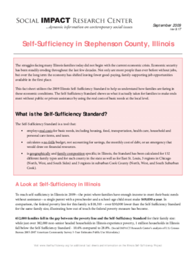Self-Sufficiency in Stephenson County, Illinois