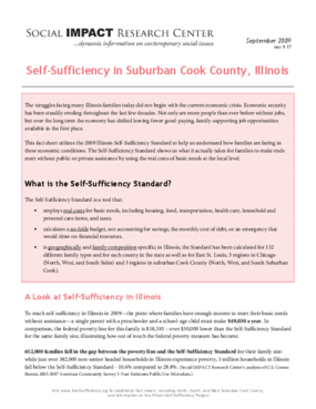 Self-Sufficiency in Suburban Cook County, Illinois