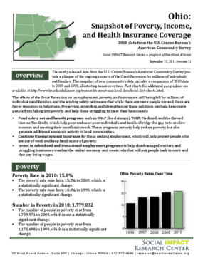 Ohio: Snapshot of Poverty, Income, and Health Insurance Coverage