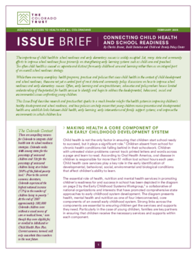 Issue Brief: Connecting Child Health and School Readiness