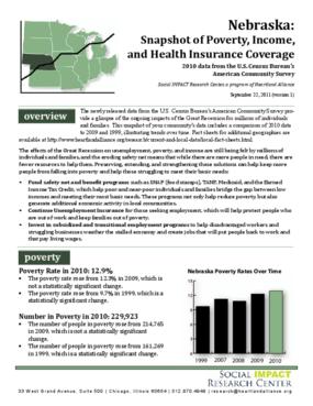 Nebraska: Snapshot of Poverty, Income, and Health Insurance Coverage