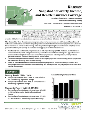 Kansas: Snapshot of Poverty, Income, and Health Insurance Coverage