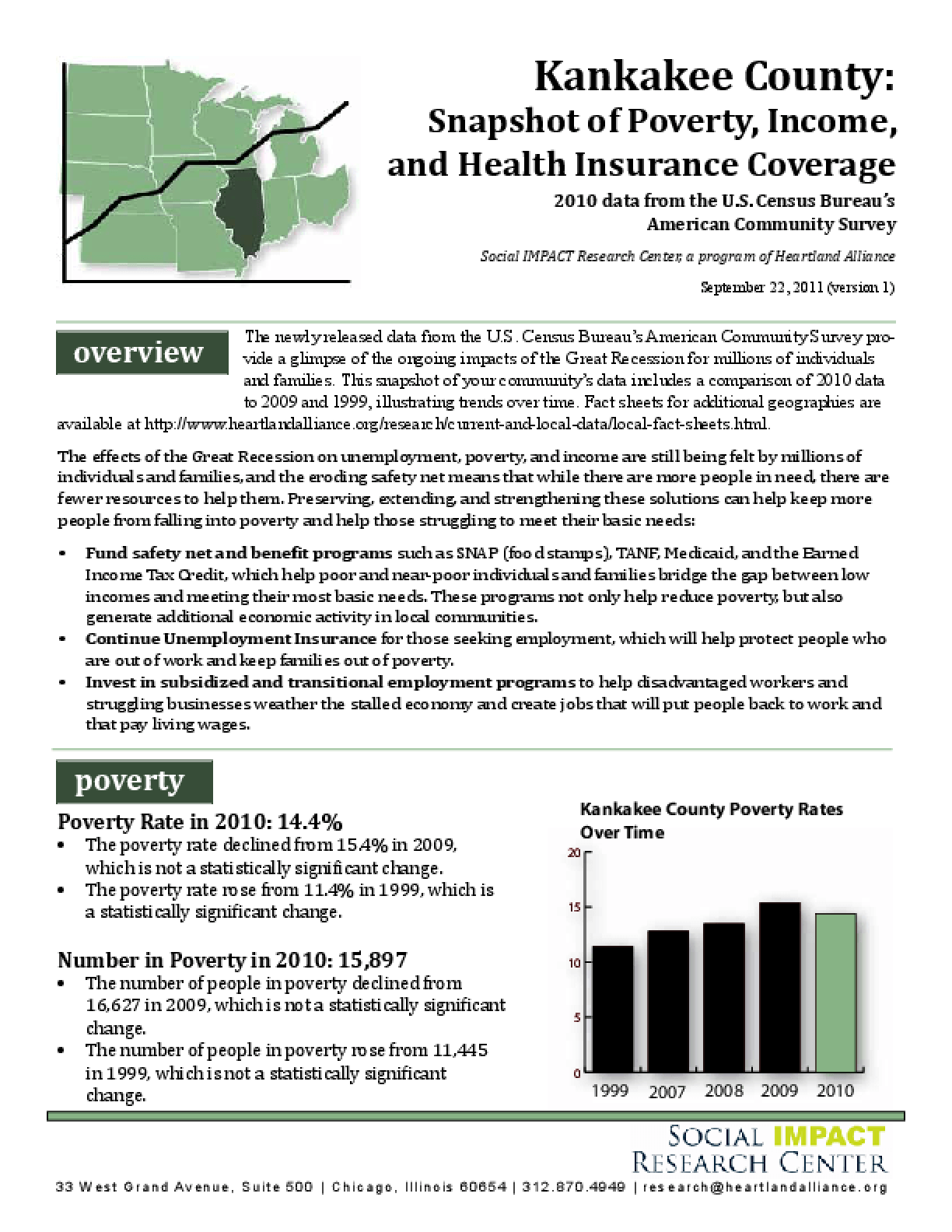 Kankakee: Snapshot of Poverty, Income, and Health Insurance Coverage