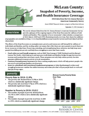 McClean County: Snapshot of Poverty, Income, and Health Insurance Coverage