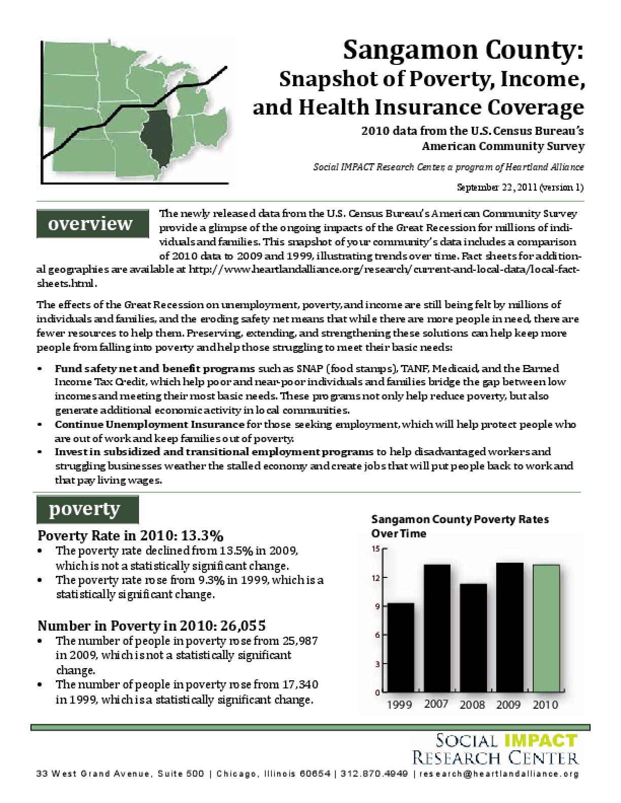 Sangamon County: Snapshot of Poverty, Income, and Health Insurance Coverage