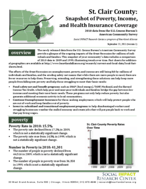 St. Clair: Snapshot of Poverty, Income, and Health Insurance Coverage