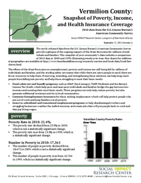 Vermillion County: Snapshot of Poverty, Income, and Health Insurance Coverage