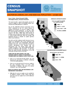 Census Snapshot: California Lesbian, Gay, and Bisexual Population
