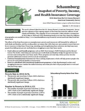 Schaumburg: Snapshot of Poverty, Income, and Health Insurance Coverage