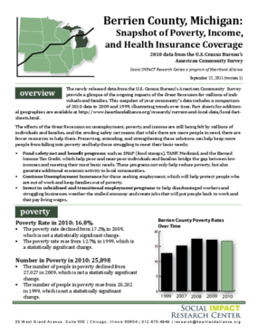 Berrien County: Snapshot of Poverty, Income, and Health Insurance Coverage
