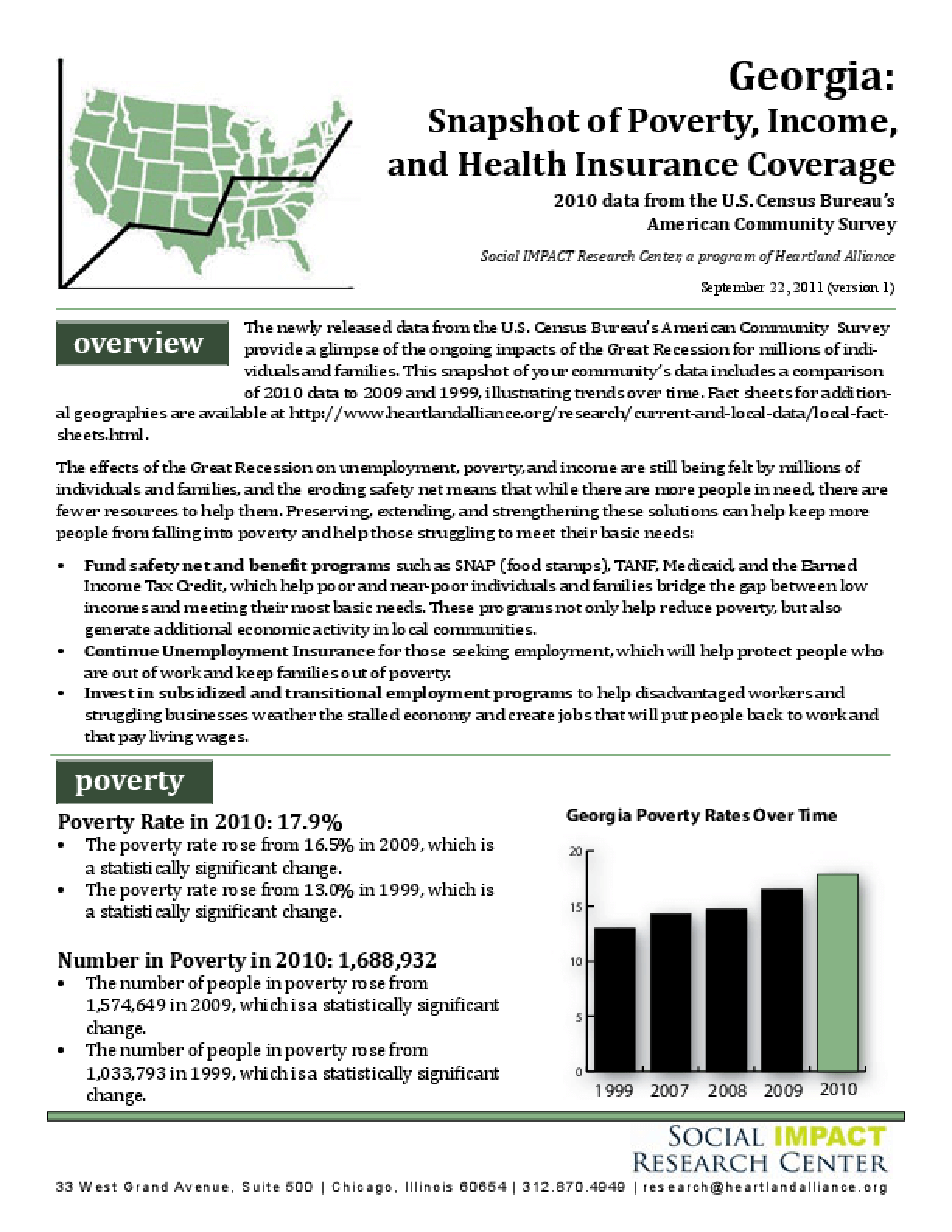 Georgia: Snapshot of Poverty, Income, and Health Insurance Coverage