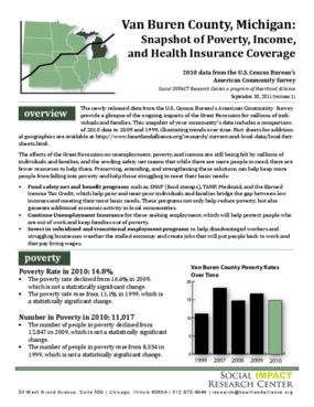 Van Buren County MI: Snapshot of Poverty, Income, and Health Insurance Coverage