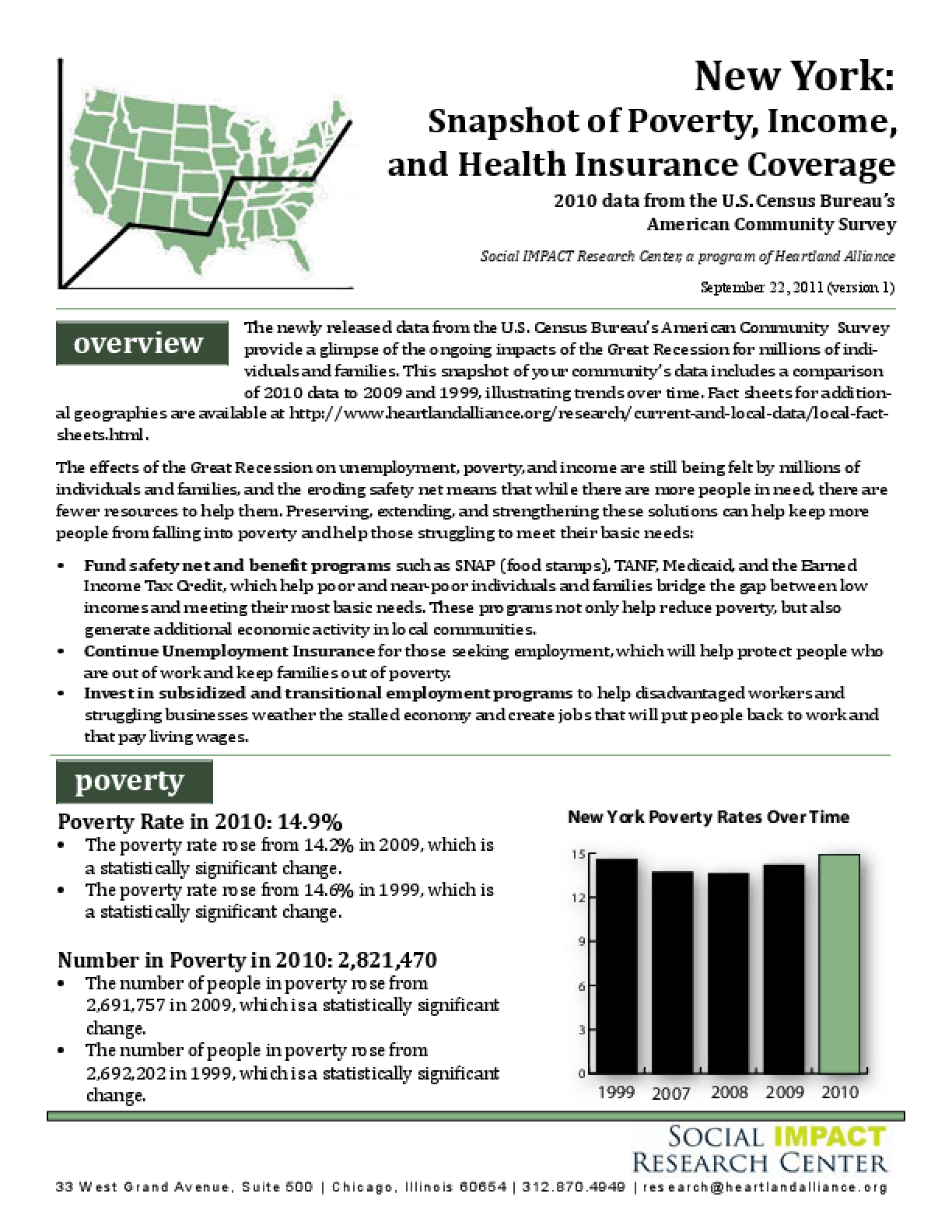 New York: Snapshot of Poverty, Income, and Health Insurance Coverage