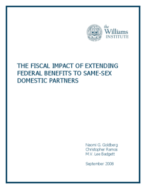 The Fiscal Impact of Extending Federal Benefits to Same-Sex Domestic Partners