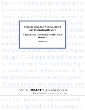 Chicago Neighborhood Job Start: Full Evaluation Report, A Transitional Jobs Response to the Great Recession
