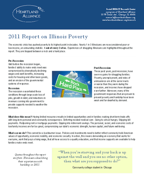 2011 Report on Illinois Poverty