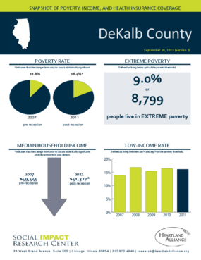 DeKalb County: Snapshot of Poverty, Income, and Health Insurance Coverage - 2011