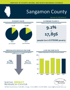 Sangamon County: Snapshot of Poverty, Income, and Health Insurance Coverage - 2011