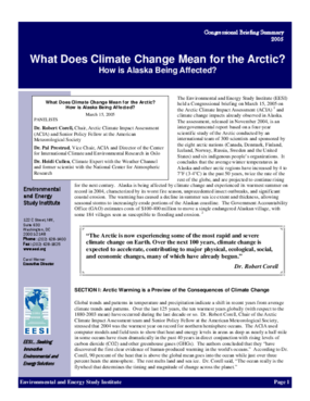 What Does Climate Change Mean for the Arctic? How is Alaska Being Affected?