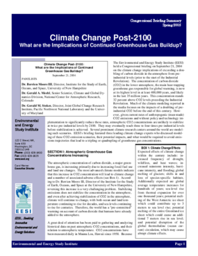 Climate Change Post-2100: What are the Implications of Continued Greenhouse Gas Buildup?