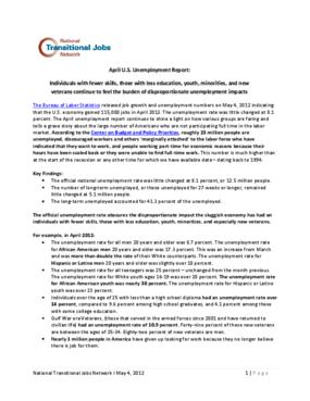 April U.S. Unemployment Report