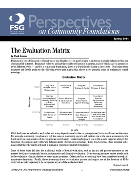 The Evaluation Matrix