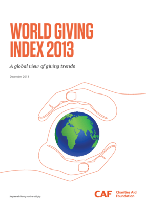 World Giving Index 2013