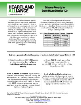Illinois House District 100 Poverty Fact Sheet