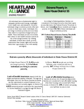 Illinois House District 55 Poverty Fact Sheet