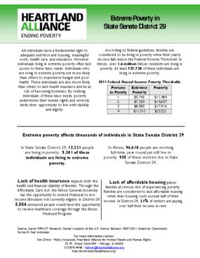 Illinois Senate District 29 Poverty Fact Sheet
