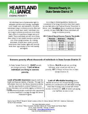 Illinois Senate District 31 Poverty Fact Sheet