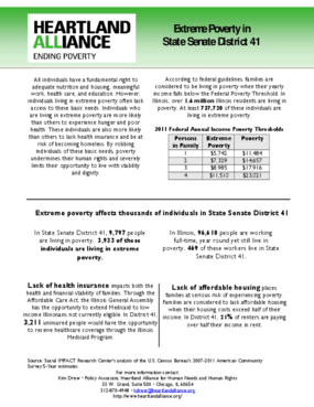 Illinois Senate District 41 Poverty Fact Sheet