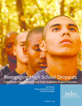 Reengaging High School Dropouts: Early Results of the National Guard Youth ChalleNGe Program Evaluation