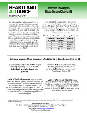 Illinois Senate District 58 Poverty Fact Sheet