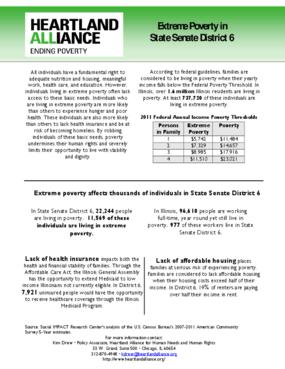 Illinois Senate District 6 Poverty Fact Sheet