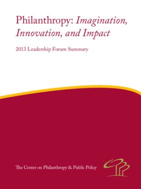 Philanthropy: Imagination, Innovation, and Context