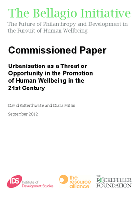 Urbanisation as a Threat or Opportunity in the Promotion of Human Wellbeing