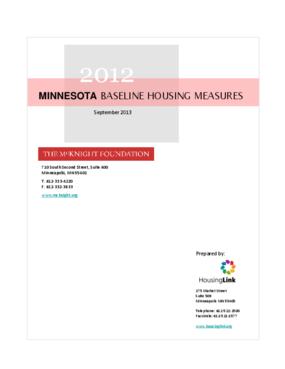 2012 Minnesota Baseline Housing Measures