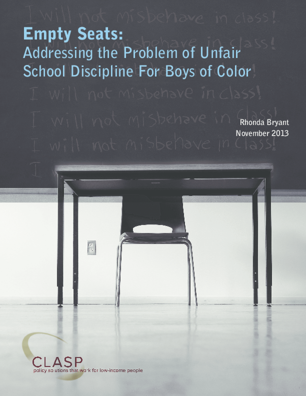 Empty Seats: Addressing the Problem of Unfair School Discipline for Boys of Color