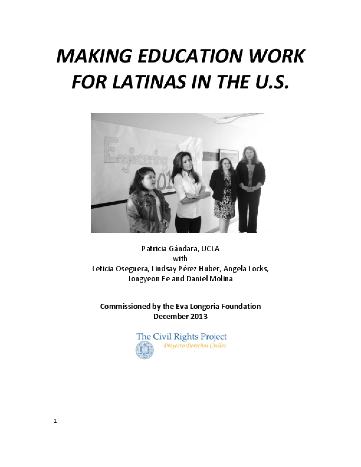 Making Education Work For Latinas in the U.S.